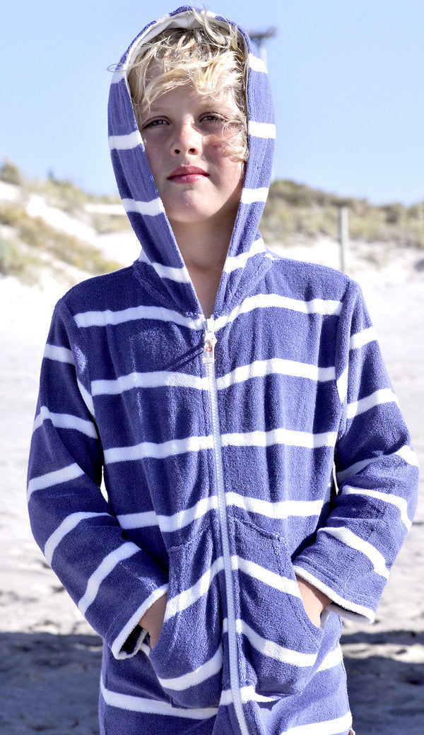 Denim Stripe Choodie beach robe