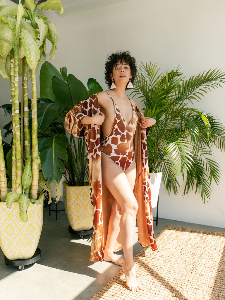 Pattern Village Safari Lust Eco Suit and Dressing Gown