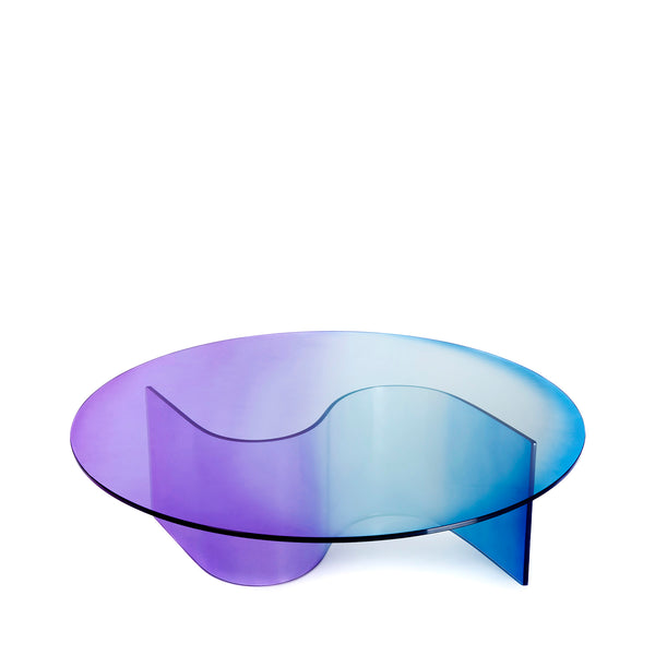 The Small Curvy Wave - Round Top - Coffee Table