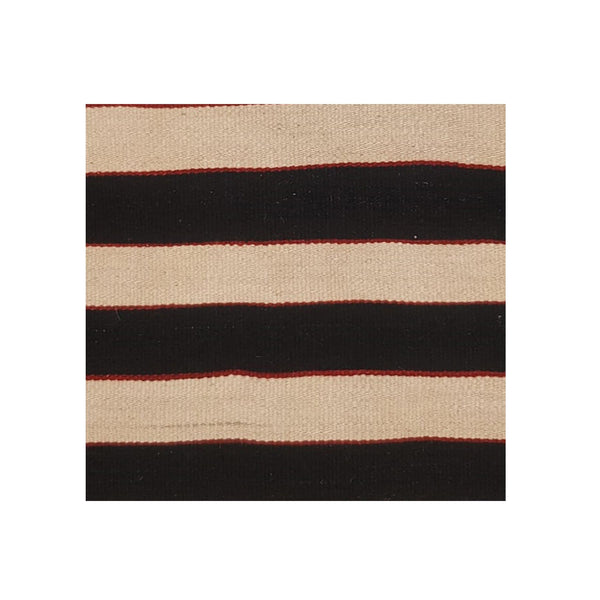 Kilim Cushion - Black and White Stripes