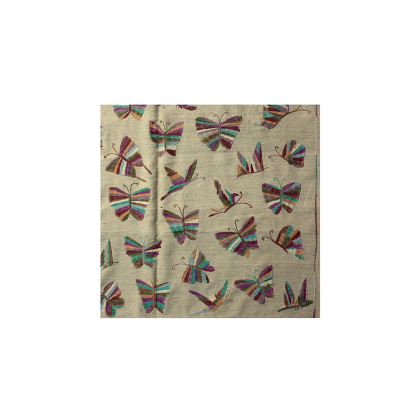 Striped Butterflies - Embroidered Kilim Rug -