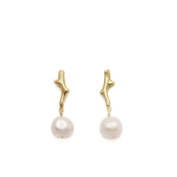 Oyster Coral Pearl - Boucles D'Oreilles