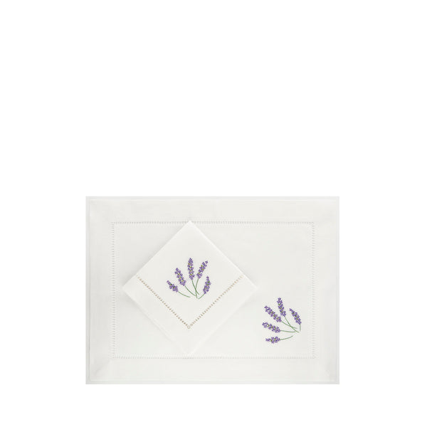 Lavanda - Set de 6 Sets de Table et Serviettes