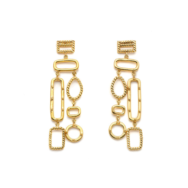 Twisted Mondrianetti - Boucles D'Oreilles