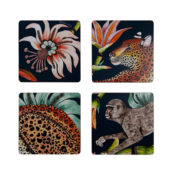 Coasters - Monkey Paradise - Set of 4