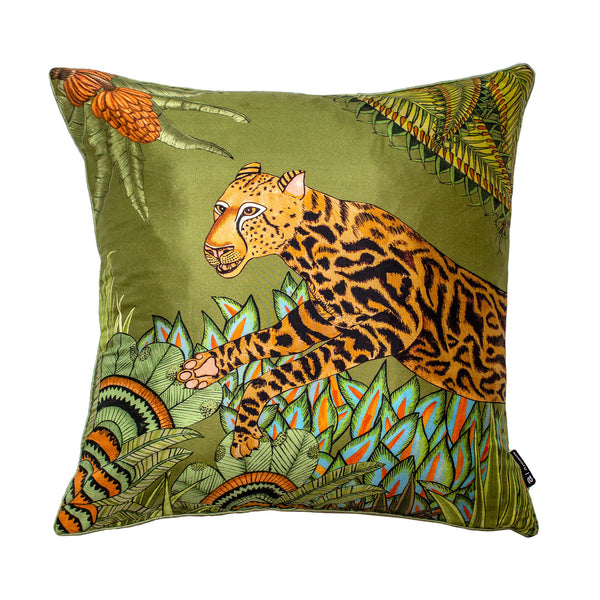 Coussin - Cheetah Kings Forest - Soie 40x40cm