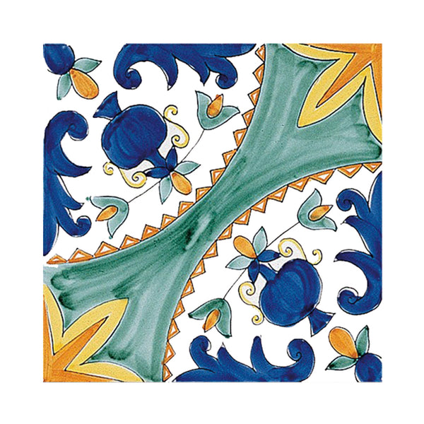 Antichi Decori - Cilento Set of 25 Ceramic Tiles 20 x 20 cm
