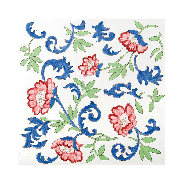 Fiori Grandi - Torvillo Set of 4 Ceramic Tiles 53 x 53 cm