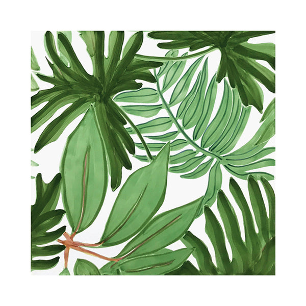 Verde Verticale - Tropical Set de 4 Carreaux en Céramique 53 x 53 cm