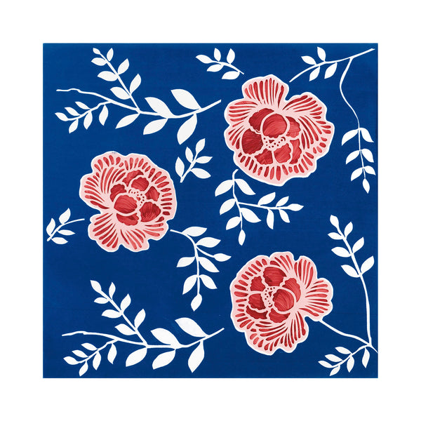 Fiori Grandi - Arorella Set of 4 Ceramic Tiles 53 x 53 cm