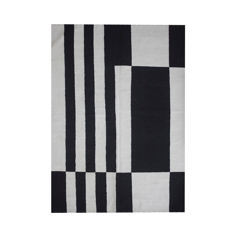Tapis en Kilim - Black and White