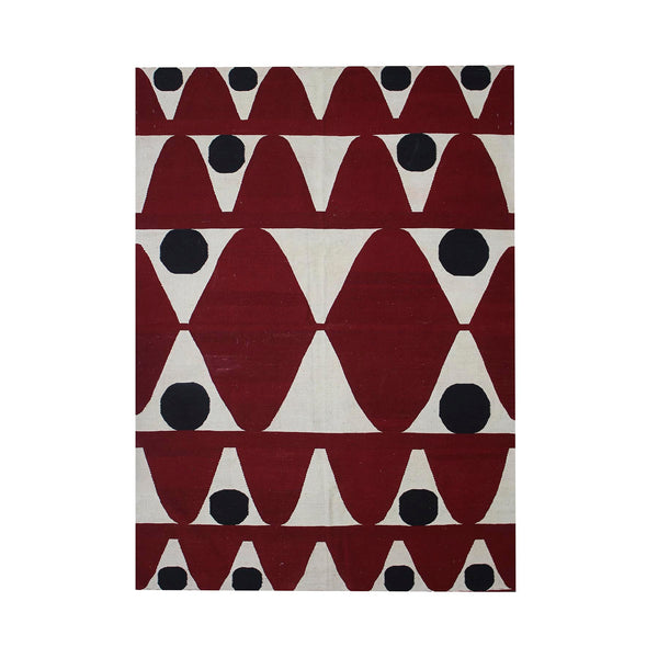 Tapis en Kilim - Points Rouges, Points Noirs