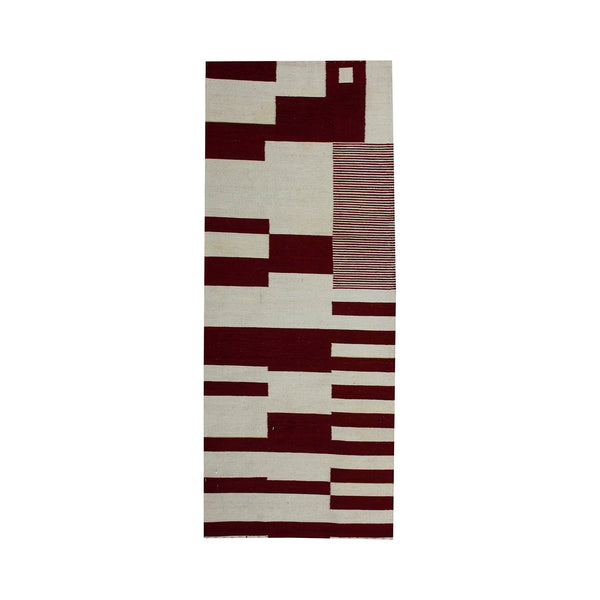 Red and White - Kilim Runner