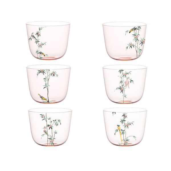 No 267 Garden of Paradise - Set of 6 Water Tumblers