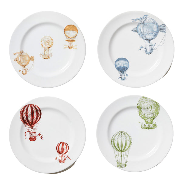 Hot Air Balloon - Set de 4 Assiettes