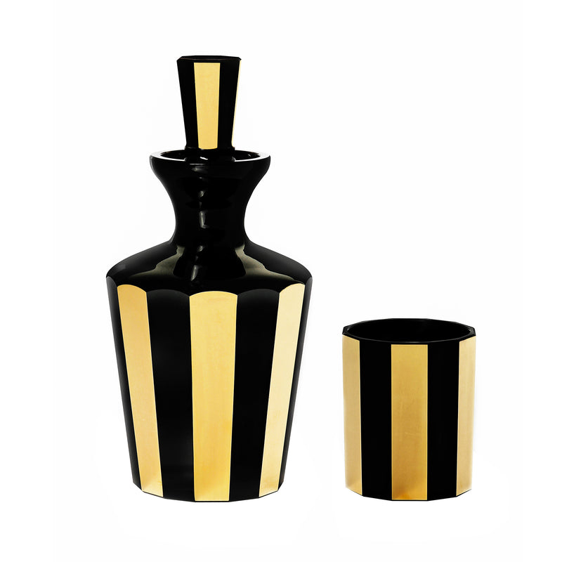 Faceted Gilded - Barware Decanter