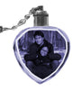 2D Laser Engraved Crystal Octagon Keychain with LED Light from your Photograph - 1 Person