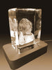 3D Crystal Laser Engraved Petite Tower, Laser Engraved with Your Photo, Personalized Photo Gift, 3D Laser Engraved Etched Crystal - 1 Person