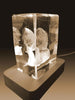 3D Crystal Laser Engraved Large Iceberg, Laser Engraved with Your Photo, Personalized Photo Gift, 3D Laser Engraved Etched Crystal - 2 People