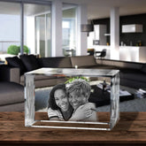 3D Laser Engraved Crystal Small Brick, Laser Engraved with Your Photo, Personalized Photo Gift, 3D Laser Engraved Etched Crystal - 2 People