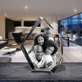 3D Laser Engraved Crystal Large Iceberg, Laser Engraved with Your Photo, Personalized Photo Gift, 3D Laser Engraved Etched Crystal - 4 People