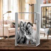 3D Laser Engraved Crystal Large Tower, Laser Engraved with Your Photo, Personalized Photo Gift, 3D Laser Engraved Etched Crystal - 4 People