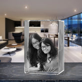 3D Laser Engraved Crystal Small Tower, Laser Engraved with Your Photo, Personalized Photo Gift, 3D Laser Engraved Etched Crystal - 2 People