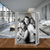 3D Laser Engraved Crystal XLarge Tower, Laser Engraved with Your Photo, Personalized Photo Gift, 3D Laser Engraved Etched Crystal - 4 People