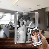 3D Crystal Laser Engraved XXLarge Tower, Laser Engraved with Your Photo, Personalized Photo Gift, 3D Laser Engraved Etched Crystal - 3D Crystal Wedding Collection 7