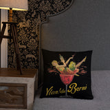 Vintage Wine Glass Throw Pillow