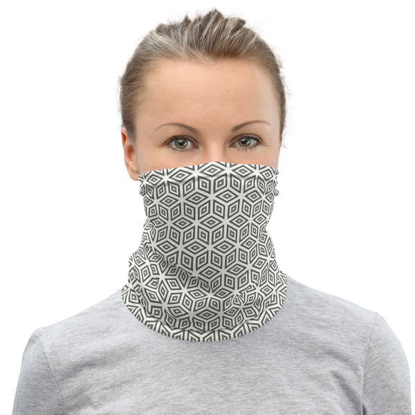 Cubic Pattern Neck Gaiter / Face Mask