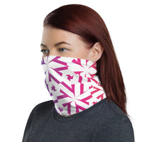 Abstract Rainbow Flower Neck Gaiter / Face Mask