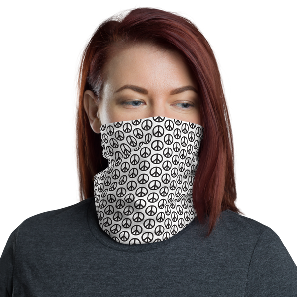Peace Sign Pattern Neck Gaiter / Face Mask