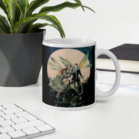 Vintage Fairy Couple on Bicycle Coffee Mug