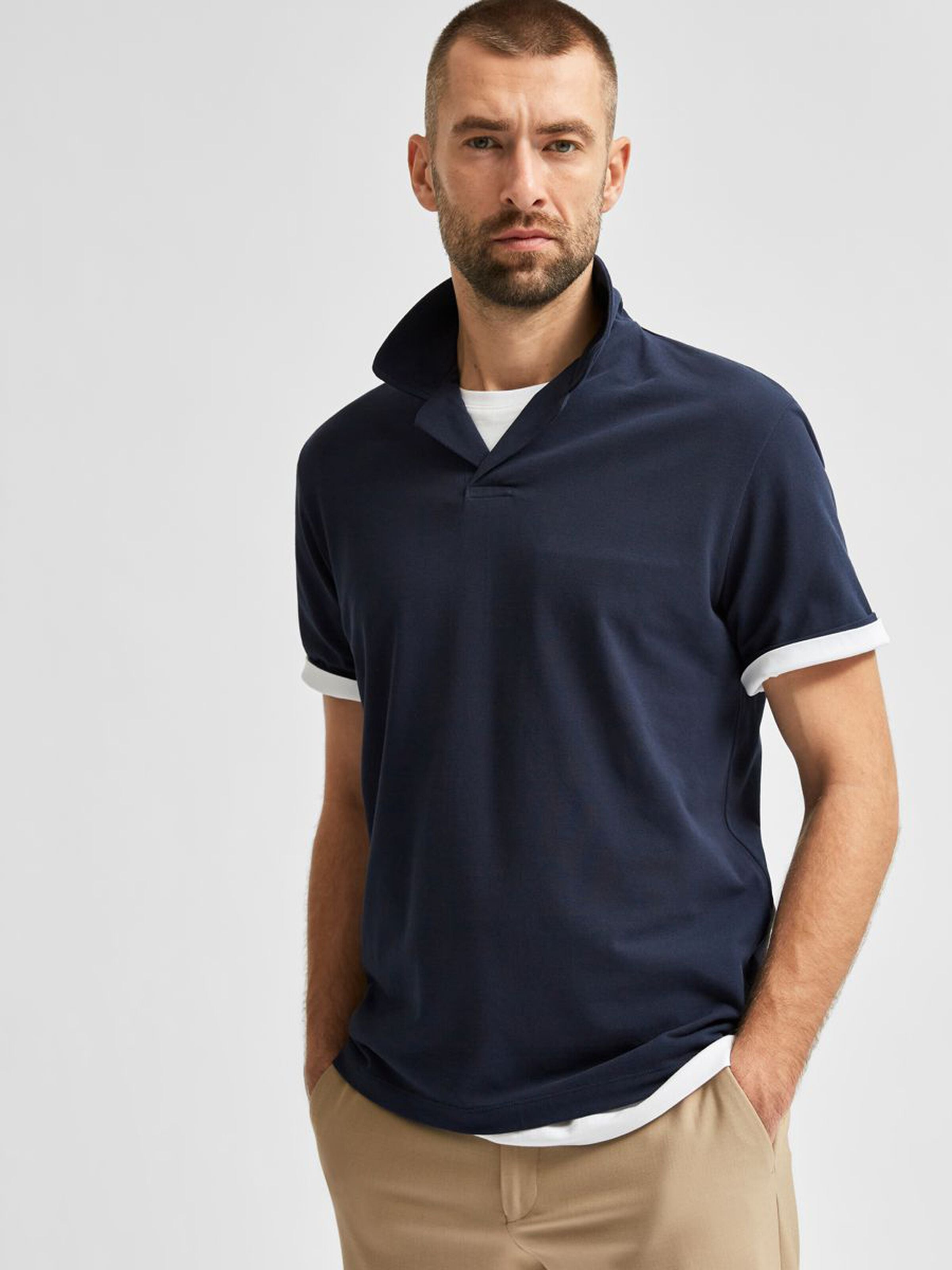 Polo col hawaïen SELECTED