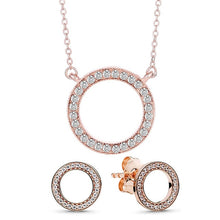 Load image into Gallery viewer, TOGORY Dropshipping Newest Fine Necklace Earrings Jewelry Sets For Women Silver Color Mickey Wedding Party Jewelry Sets