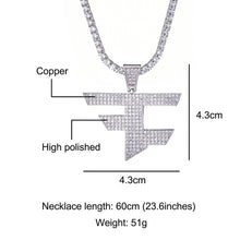 Load image into Gallery viewer, FaZe Clan Pendant Necklace Men Women Hip Hop Gold Silver Color Iced Out Cubic Zircon Jewelry Necklace