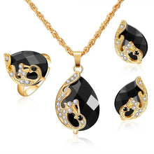 Load image into Gallery viewer, Amazing Price jewelry sets african bridal gold color necklace earrings Ring wedding crystal sieraden women fashion jewellery set