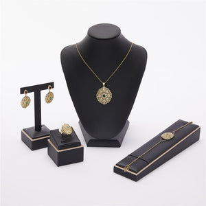 Morocco hot selling accessories wedding jewelry set for women fashion jewelry set copper high quality jewelry set