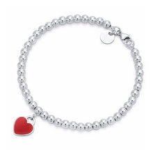 Load image into Gallery viewer, 100% 925 Sterling Silver Original Tiff Heart Shaped Pendant Bracelet Jewelry Charm Brand Design For Women Logo Fine Jewelry Gift