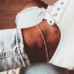Bohemian Multi Layers Chain Anklet Ankle Bracelet Simple Summer Ocean Beach Anklet for Women Foot Leg Bracelet Jewelry 2020