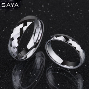 Ring for Men, White Tungsten Wedding Rings Dome Band Comfort Fit High Polished Alliance for Wedding, Free Shipping, Customized