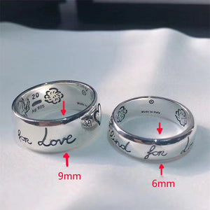S925 new love fearless ring ladies logo high-end jewelry European and American style free shipping