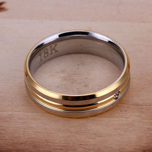 DT-R100 Hot Sale Stainless Steel Fine Fashion Jewelry Wholesale Charms Jewelry Gifs For Girl Women Fashion Inlaid Rings 18-K