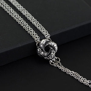 BOND Girl Movie Necklace Algerian Love Knot Silver Plated Necklace