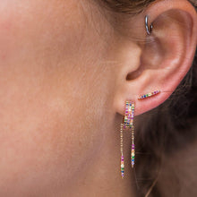 Load image into Gallery viewer, 2019 New round colored Earrings Women Fashion Wedding Cute Fine Jewelry Rose Gold Multicolor Zircon Dangle Earrings for women