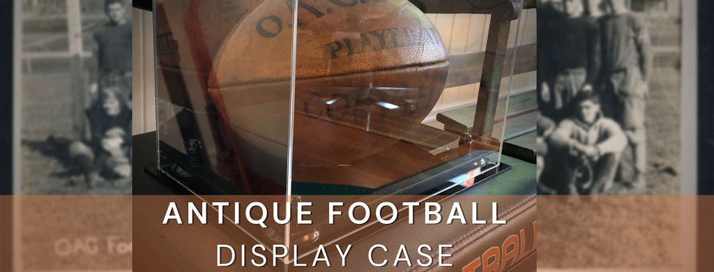 Displaying An Antique Football