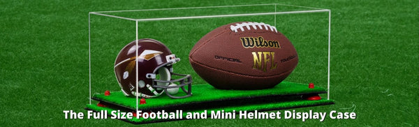 NEW PRODUCT: Full Size Football and Mini Helmet Display Case