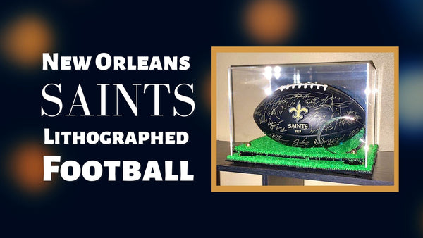 New Orleans Saints Lithographed Football