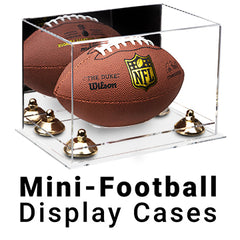 mini football display cases